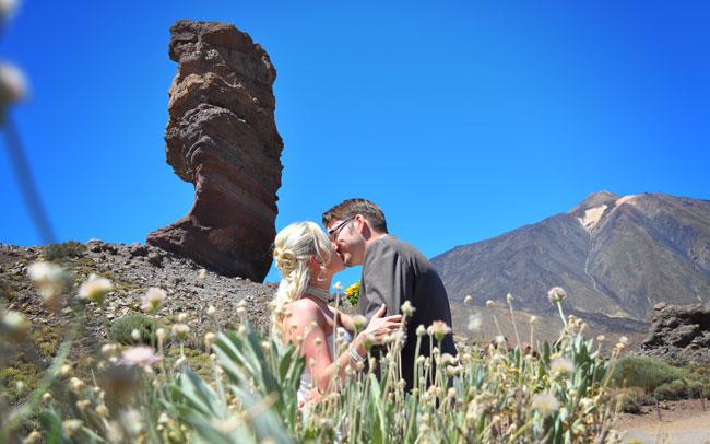 wedding photographs after wedding canary islands tenrife