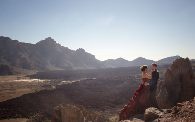 spectacular after wedding photographs tenerife canary island
