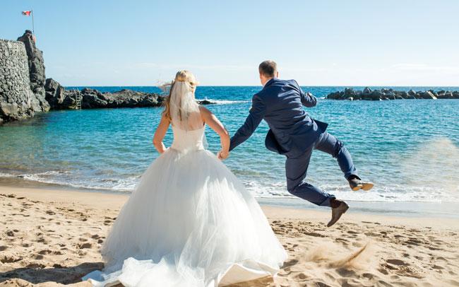 wedding after wedding photo shoot in spain canary islands tenerife