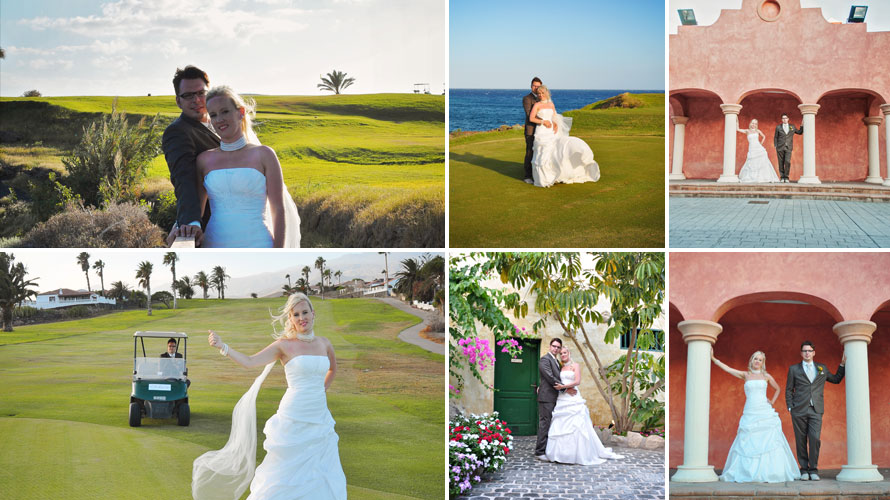 photographer from tenerife doing after wedding photo shoot