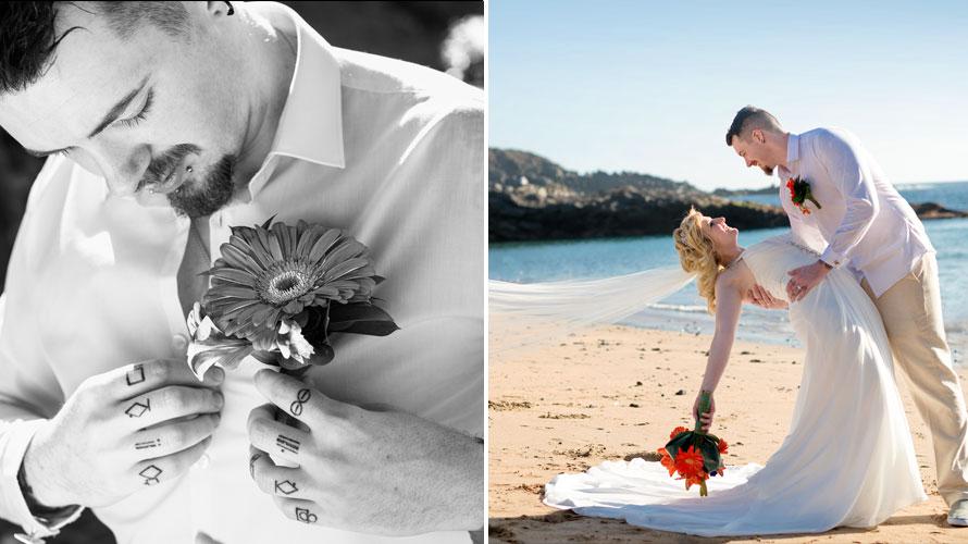 trash wedding dress photography in Tenerife canary islands