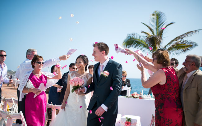 marriage of newlyweds in tenerife canary islands photographed by our professional photographers