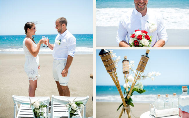 photographer on and after wedding shoot in tenerife