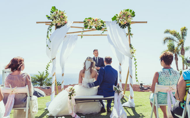 lovely wedding in the canary islands