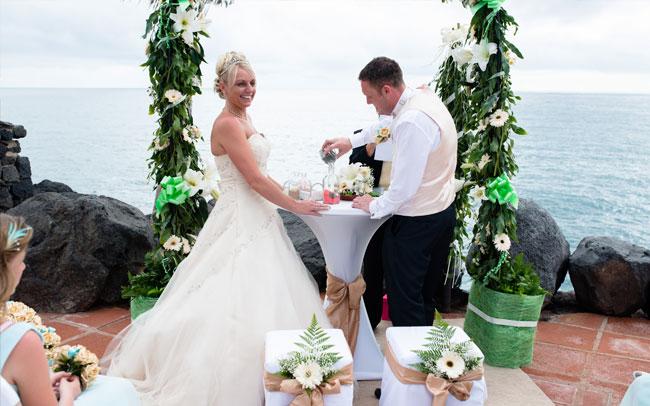 marriage tenerife newly weds canary islands
