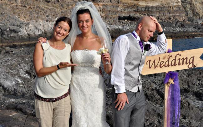 photographer at wedding in tenerife