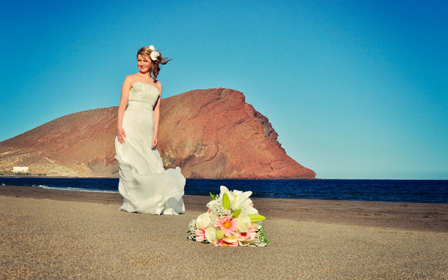 wedding photographs in the canary islands