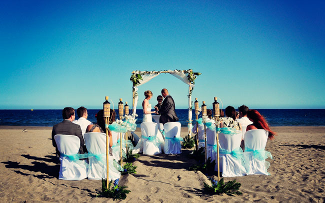 wedding photo in the canary islands