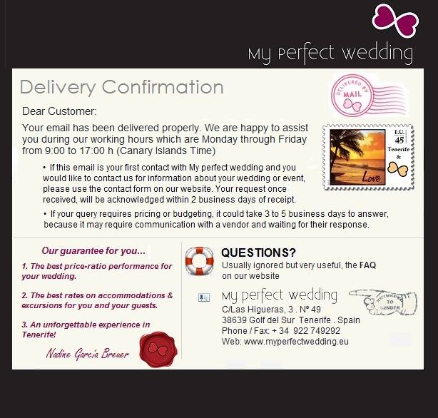 Delivery Confirmation, Click here