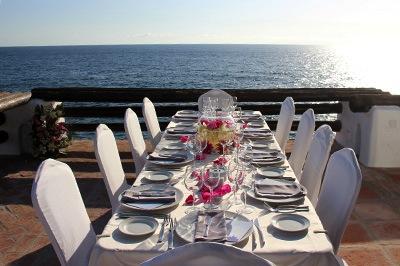 tenerife wedding table decorations