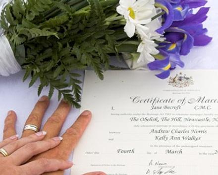 Rechtsgültige Eheschließung